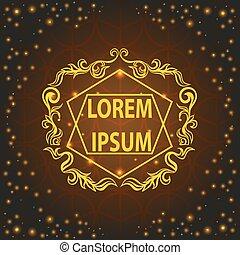Baroque shiny ornamental card, pattern