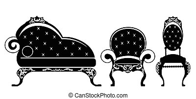 Baroque style furniture for children room with rich...