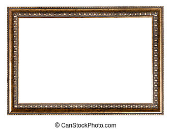 baroque style golden wooden picture frame