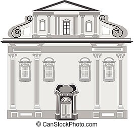 Baroque style in architecture vector eps 10