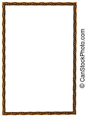 baroque style narrow picture frame