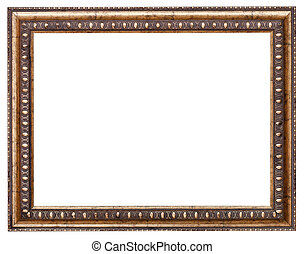 baroque style picture frame with cut out canvas