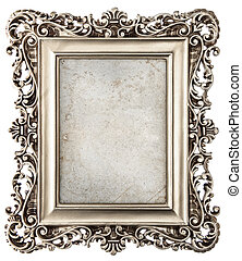 baroque style silver picture frame with canvas