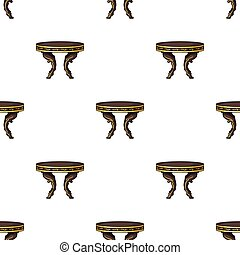 Baroque table icon in cartoon style isolated on white background. Furniture and home interior symbol stock vector illustration.