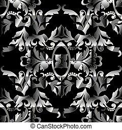 Baroque vector seamless pattern