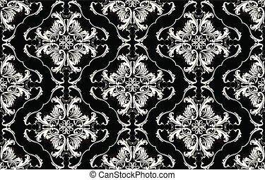 Baroque vector seamless pattern.