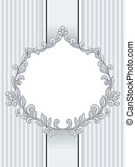 Baroque Vintage Frame - Illustration of a Vintage Frame with...