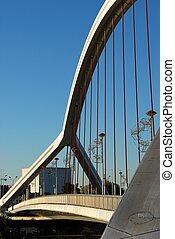 Barqueta bridge, Seville, Spain. - Barqueta bridge (Puente ...