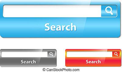 barra, búsqueda, diseño