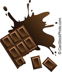 barra, chocolate