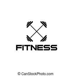 barra con pesas, ilustración, condición física