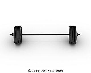 barra con pesas