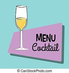 barra de cóctel, menú