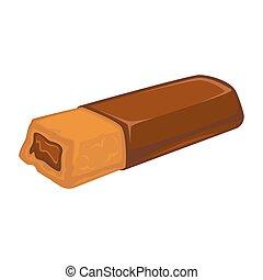 barra de chocolate, con, galleta, dentro, disecado, con,...