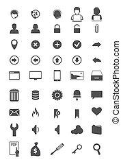 barra de herramientas, iconos