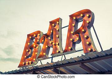 barra, effect., (, imagen, señal, ), procesado, vendimia, filtrado