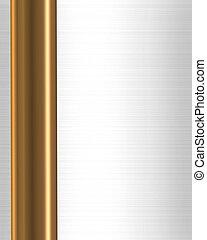 barra, oro, frontera, marco, raso blanco