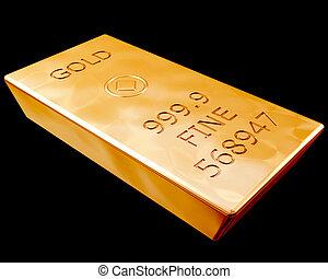 barra, puro, oro