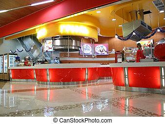 barra snack, interior