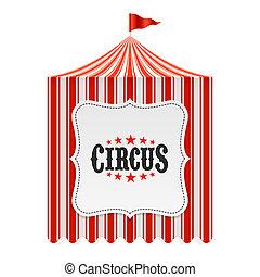 barraca circo, cartaz, fundo