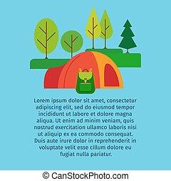 barraca, floresta, turista