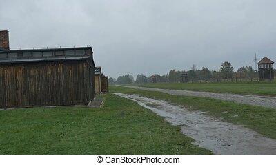 Barracks for Prisoners in Nazi Camp - Barracks of prisoners...