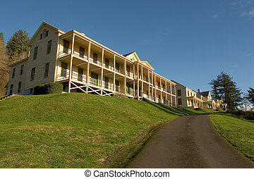 Barracks, Fort Columbia, at the mouth of the Columbia River in Washington