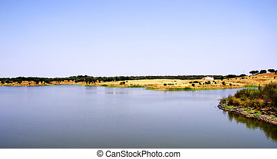 Barrage at alentejo, Portugal