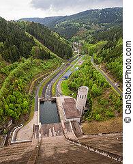 Barrage in Unterweissbach (Germany).