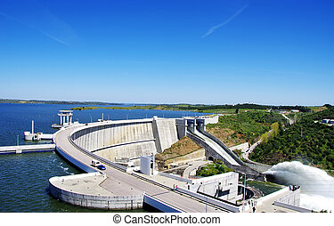 Barrage of Alqueva, Portugal