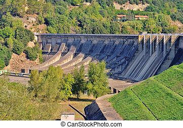 barrage, réservoir, 03