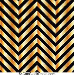barras, ilusão óptica, ouro