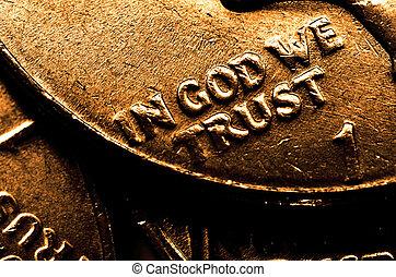barras, moedas, ouro