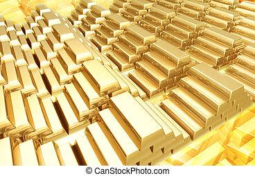 barras, ouro