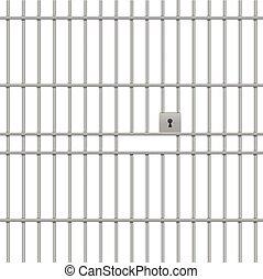 barras, prisión, plano de fondo