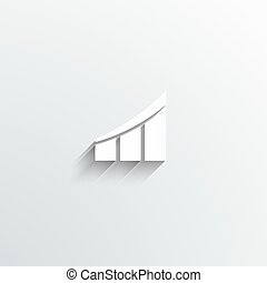 barre, affari, curva, sagoma, professionale, logotipo
