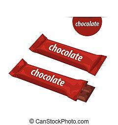 barre, chocolat
