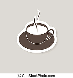 barre, coffee., tasse, illustration, vecteur, café, ou