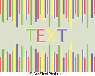 barre, colorato, verde leggero, fondo, testo, stanza