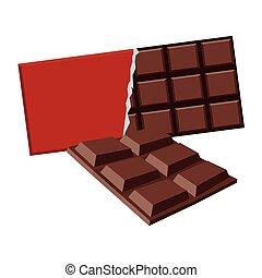 barre, délicieux, chocolat