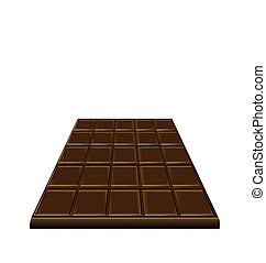 barre, doux, isolé, chocolat, fond, dessert, blanc