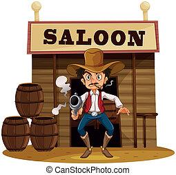 Soupir cigare grenouille bois fumer sur cigare - Dessin saloon ...