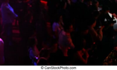 barre, gens, club, conversation, nuit, étagère