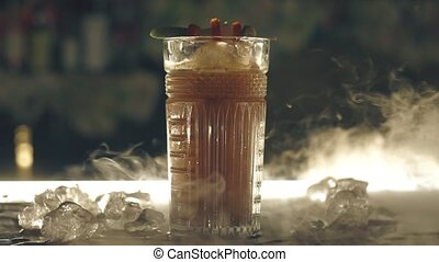 barre, glace, cocktail, sec