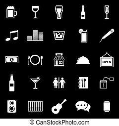 barre, icônes, sur, arrière-plan noir