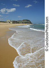 barre, plage, summer., newcastle
