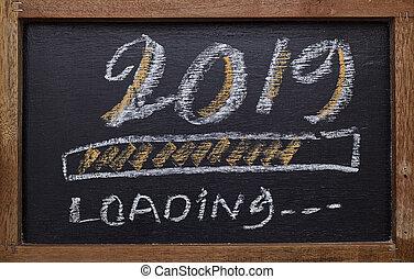 barre progrès, chargement, de, 2019