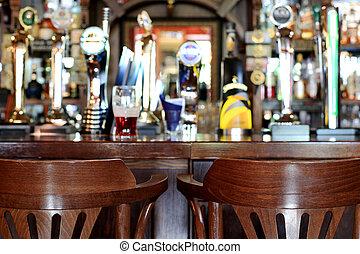 barre, pub, bière