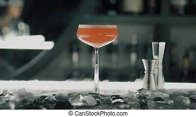 barre, rouges, cocktail
