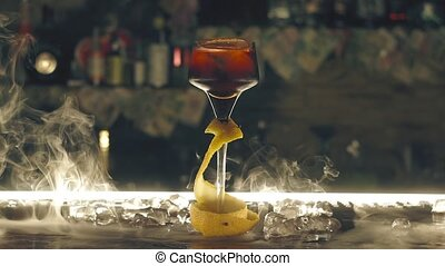 barre, sec, cocktail, glace